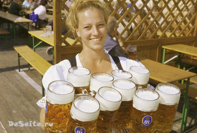 Октоберфест - пивной праздник в Мюнхене