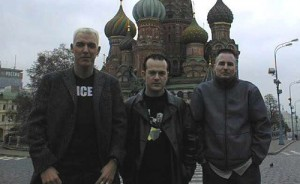 Участники группы в Москве, октябрь 2000 года. Эйч Пи Бакстер, Рик Джордан, Аксель Кун