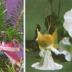 """Рождественское украшение """"Ангел из цветов - Blütenengel"""""""