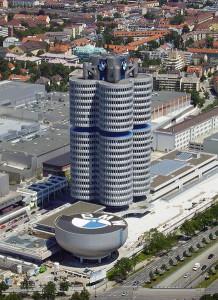 Штаб-квартира BMW и музей в Мюнхене, Германия.