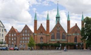 """Больница """"Святого духа"""", куда в средневековье помещали городских нищих. Это здание было до 1970 года домом для престарелых."""