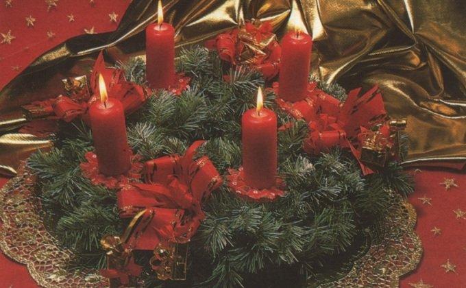 Адвент - Advent. Традиционный венок для Адвента