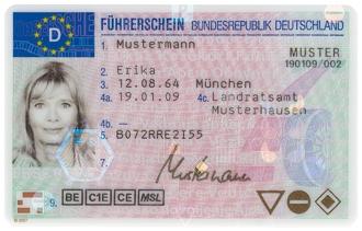 водительские права в Германии