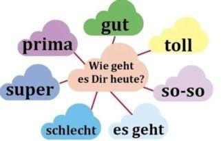 фразы на немецком языке, Типичные фразы в диалогах