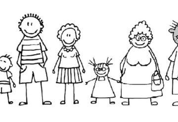 Портрет семьи на немецком языке
