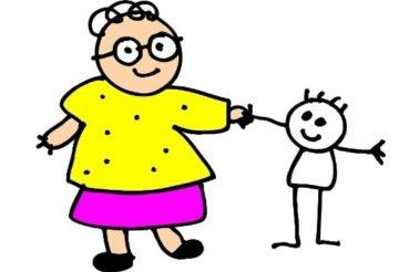Zu Besuch bei Oma - В гости к бабушке, бабушка на немецком языке