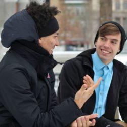 Andrej und Sergej - Андрей и Сергей - Диалог на немецком языке с переводом Kontrollarbeit