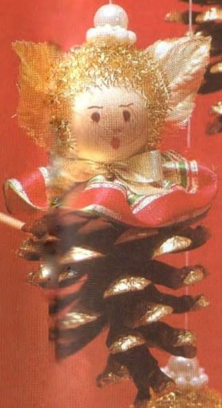 Ангел из шишки - Zapfenengel